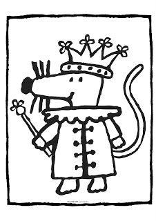 Le coin des petits [Balade en Champagne]: Thème de la souris en maternelle préscolaire petite section: Mimi la souris - coloriage
