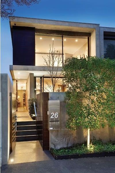 Townhouse blue fruits and glamour on pinterest for Modern townhouse architecture