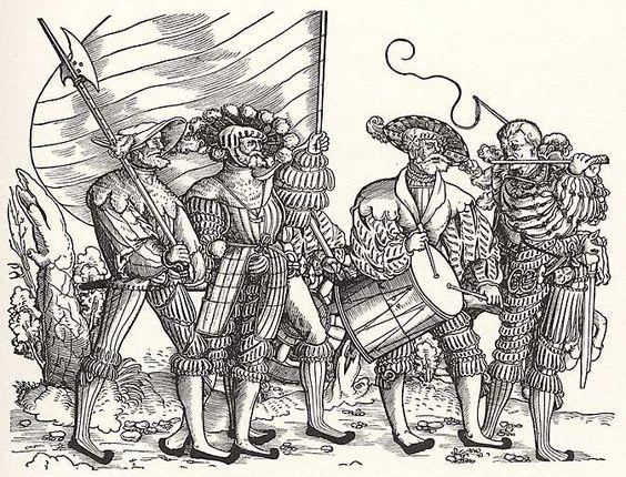 Artist: Stör, Niklas, Title: Soldatenzug, Spielleute und Fähnrich, Date: 1st half of the 16th century