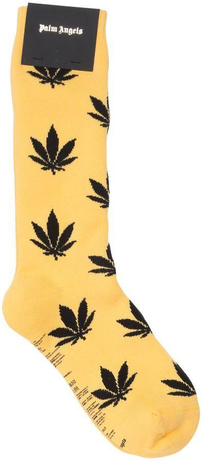 Leaves Cotton Blend Socks