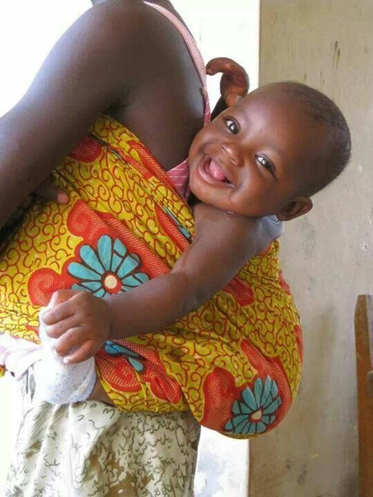 Ghana - That's one happy Baby.: