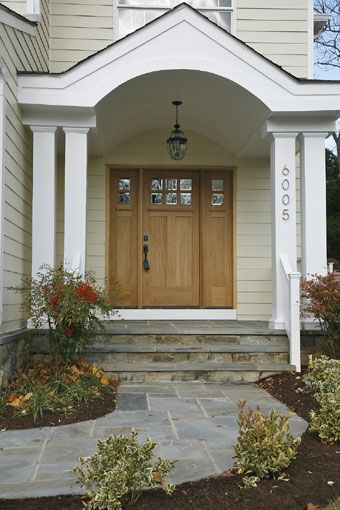 Front stoop entry ways and front porches on pinterest for Front door stoop ideas