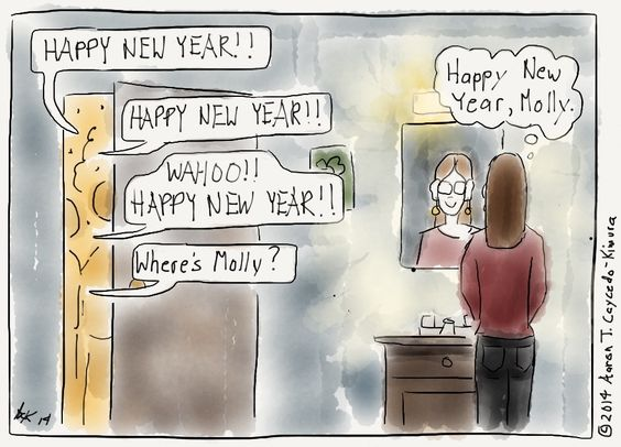 Wishing everyone on Pinterest a healthy and happy New Year. INFJ Cartoon from http://infjoe.wordpress.com.