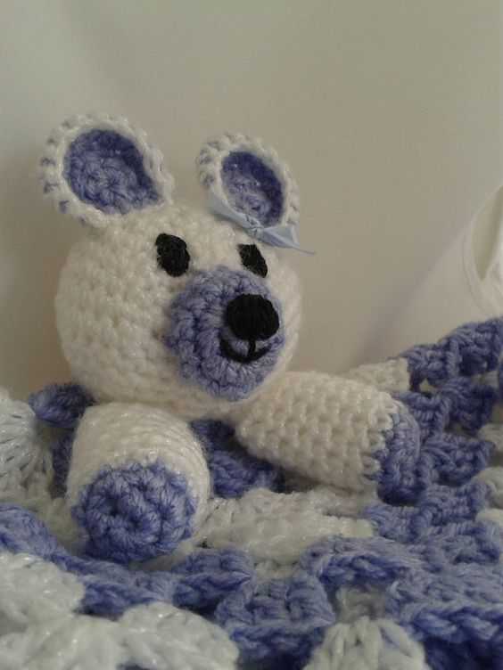 Baby blankie. Security blanket Hand crocheted  Boo by CrochetBox, £8.99