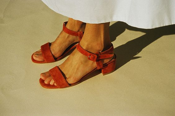 Maryam Nassir Zadeh  http://www.mnzstore.com/products/sophie-sandal-copper-suede: