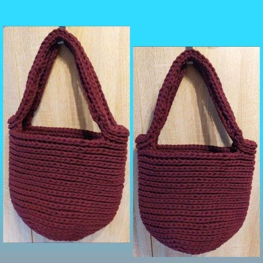 Torebka Szydelkowa Shopper Bag Handmade Rekodzielo 9854964063 Allegro Pl Straw Bag Bags Crochet Patterns