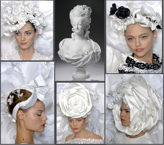 For the Chanel Couture Spring 2009 show, veteran hair guru Katsuya Kamo magically transformed 2 packs of plain white 11x17 copier paper into elaborate head pieces.
