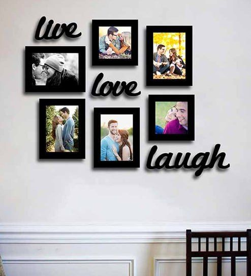 Live Laugh Love Living Room Idea Fresh Buy Black Synthetic Wood Wall Photo Frame Set Of 6 By Art Photo Frame Wall Framed Photo Collage Frame Set