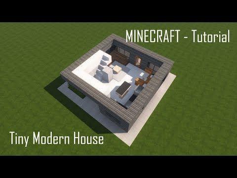Minecraft Tiny Modern House Tutorial Interior Youtube Modern Tiny House Minecraft Minecraft Modern