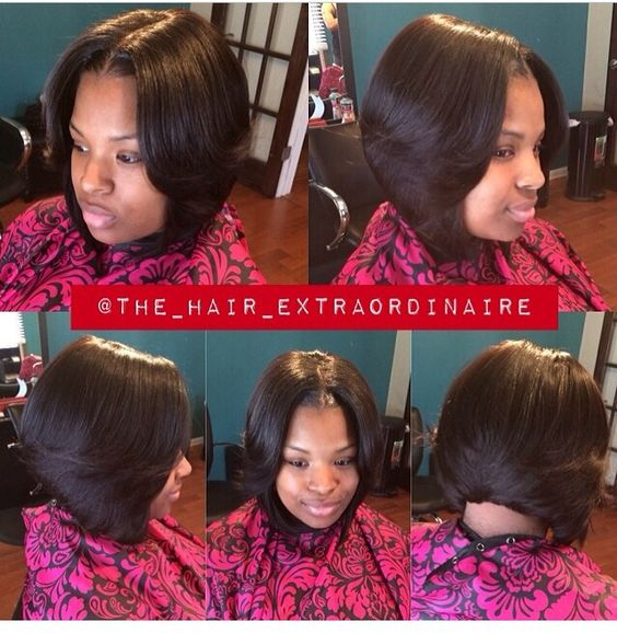 Middle Part Bob Weave Hairstyles Love this middle part bob inspiring ...