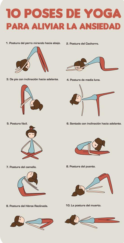 Reduce la ansiedad con estas 10 poses de yoga ;)
