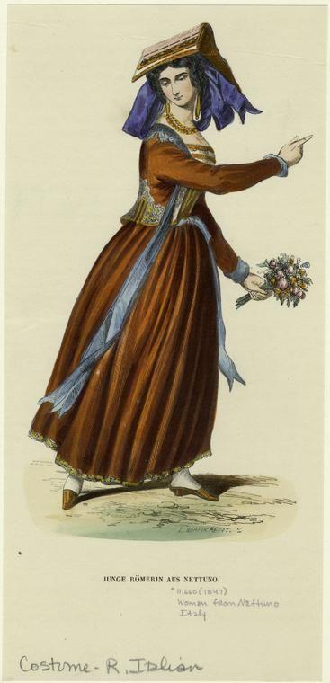 Image Title: Junge Römerin aus Nettuno.  Creator: Markaert, L.--Engraver  Published Date: 1847