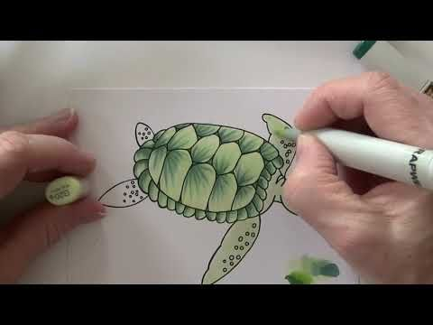 163 Ccr Craft With Pixels Turtle Youtube Pixel Copic Markers Colouring Pages