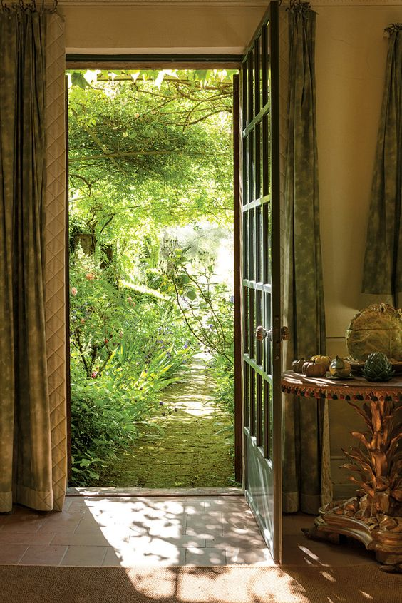 Inside the fashion luminary Federico Forquet's garden sanctuary. Cetona, Italy, photo by Ricardo Labougle.: