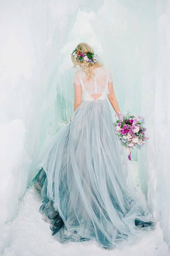 Still dreaming of an ombre wedding gown.... By Chantel Lauren