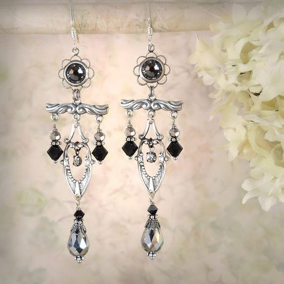 Moonlight Sonata Earrings  Petite Symmetrical by MiaMontgomery, $79.00