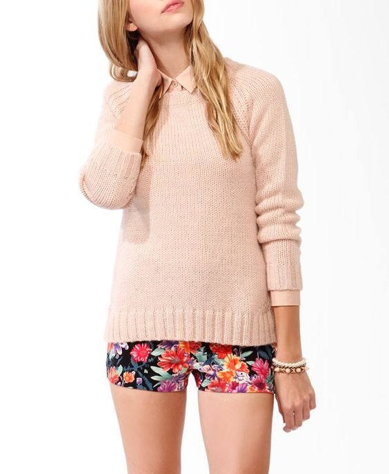 High-Low Rib Knit Sweater #sweaterweather