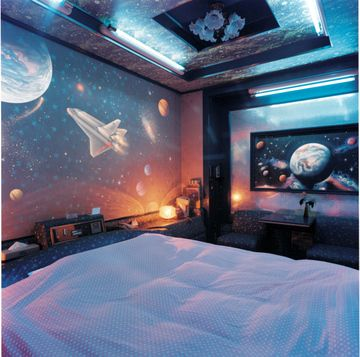 Here's another great Pinterest find by CJ Foxcroft at DigsDigs: an over-the-top outer space bedroom that encouarges a child to explore the planets and dream of traveling to other worlds.  Visit our Dream Kids Rooms Pinterest Board to see the rest of our dream room picks, including some unique nurseries!  Photo Source: DigsDigs: