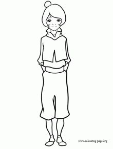 Coloring page of jinora legend of korra printable paper for The legend of korra coloring pages