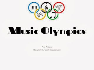 Music Olympics with printables. Free.