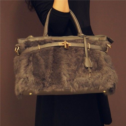 morris-fashion.com @ Gorgeous Gray Fluffy Handbag ✿