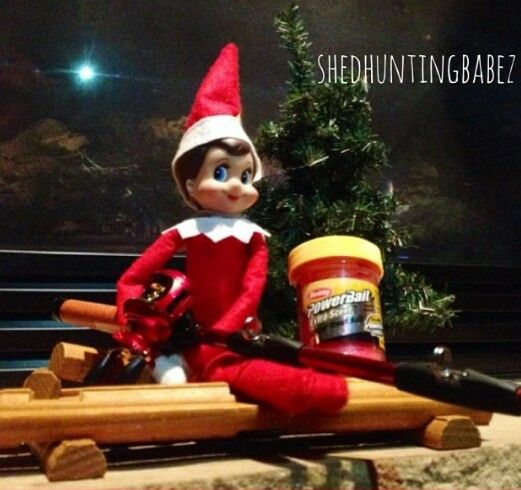 Elf on the shelf hunting and fishing ideas www for Elf on the shelf fishing