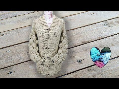 Chaqueta Con Mangas Punto Bola Crochet Paso A Paso Youtube Patrón Para Chaqueta De Ganchillo Chaqueta De Ganchillo Chalecos Crochet Calados
