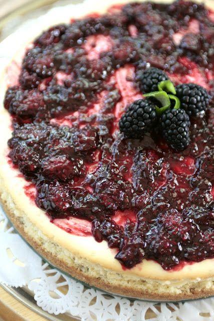 Indigo Scones: Lime Cheesecake with Blackberry Sauce | Cheesecakes ...