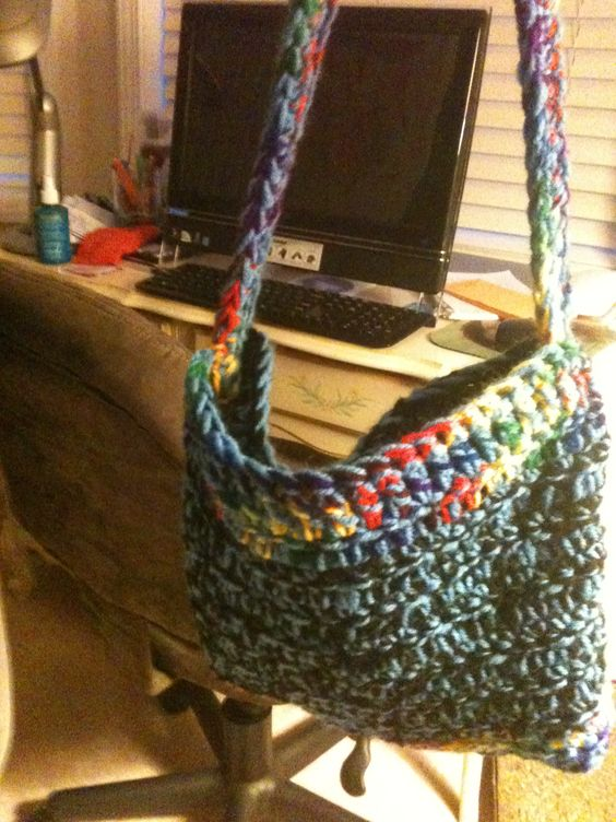 Homemade crochet bag