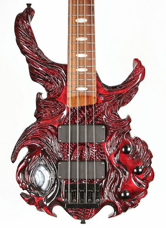halo carnage custom hand carved 4 string bass guitar halo custom guitars pinterest love it. Black Bedroom Furniture Sets. Home Design Ideas