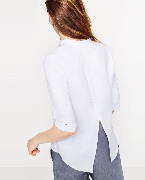 Image 4 de CHEMISE EN POPELINE CLASSIQUE de Zara