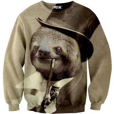 Old Money Sloth Sweater | 20 Sweatshirts You Need In Your Life Immediately @Zane Luekenga and I like this, @Abigail