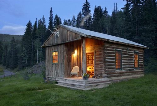 Log cabins.