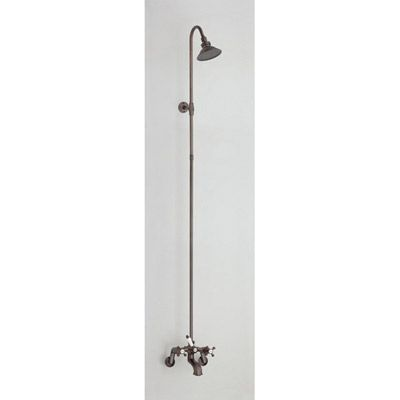 Clawfoot Tub Shower Faucet Tub Wall Mount With Riser And Showerhead Chevi