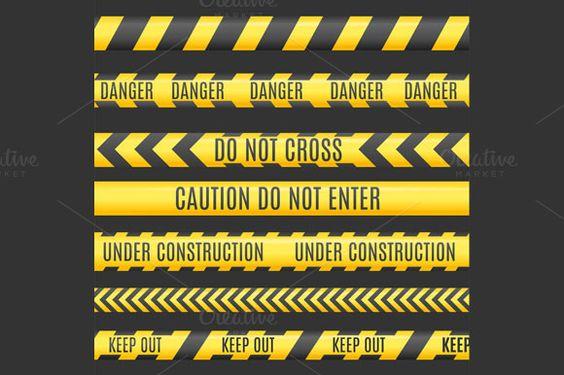 Under Construction Line Set. Vector  @creativework247