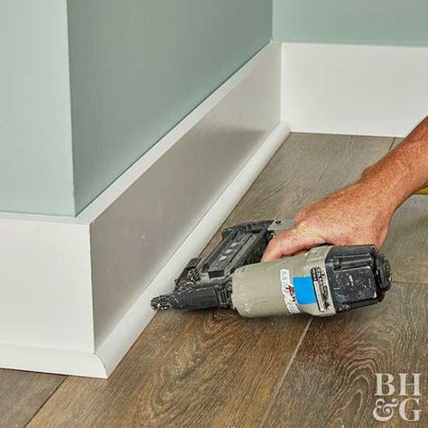 Enhance your home's architectural character with baseboard molding you can install yourself.