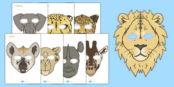 Safari Animals Role Play Masks