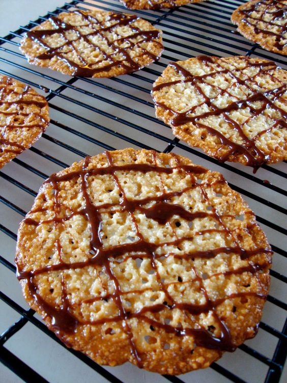 orange almond lace cookies recipe