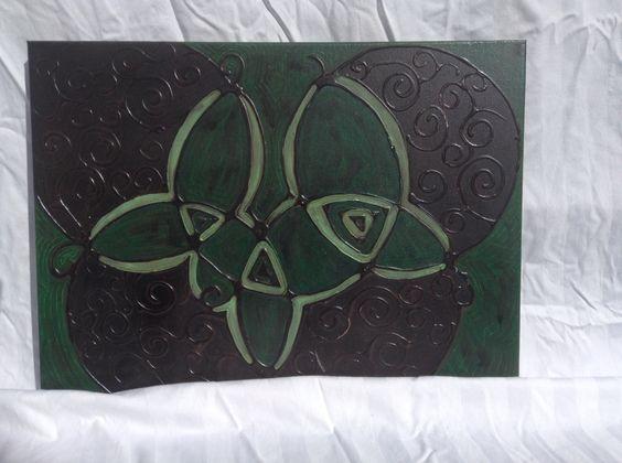 """16x20"""" Acrylic and glue on canvas"""