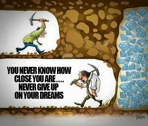 VibePilates.com | You never know how close you are.... never give up on your dreams.: