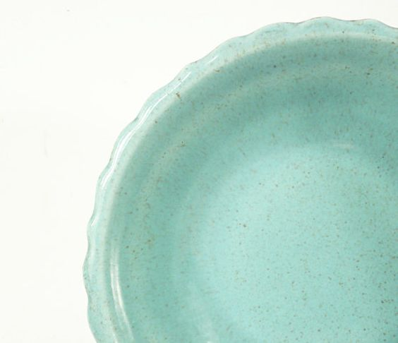beautiful vintage robin's egg blue Santa Anita Ware serving bowl by jetsetvintage