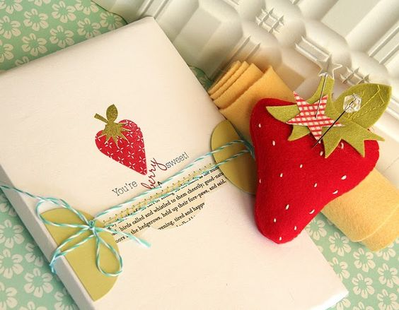 gift wrap: Gift Wrap Ideas, Gift Wrap Packaging, Cardmaking Ideas, Sewing Pincushions, Card Ideas, Things Strawberry, Card Inspiration