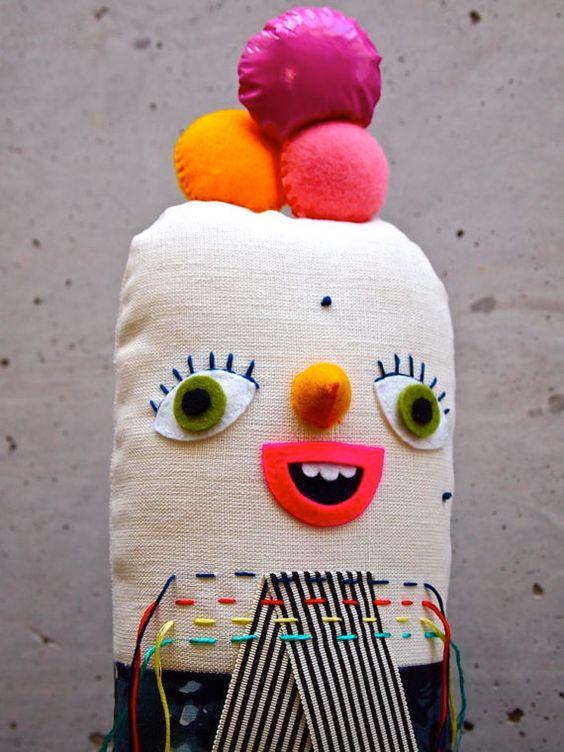 Art Doll Cloth Soft sculpture fabric cloth by JessQuinnSmallArt