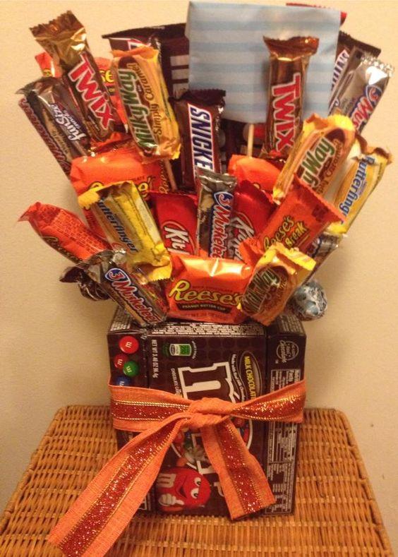 Mixed Box Candy Bouquet: