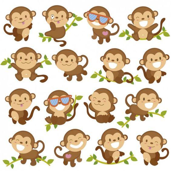 Funny cartoons de singe   Télécharger des Vecteurs gratuitement