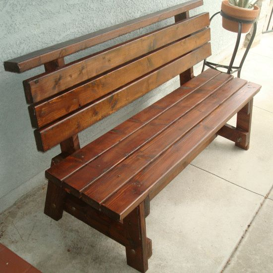 Pin Park Benches Plans Woodworking Project on Pinterest