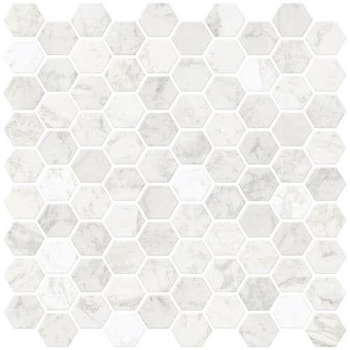 Inhome Hexagon Marble Peel And Stick Backsplashtiles Lowes Com Stick Tile Backsplash Stick On Tiles Peel And Stick Tile