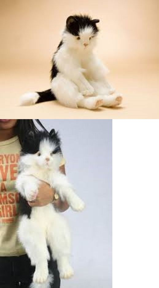 Hansa 95265 New Nwt Hansa Life Like Handmade Stuffed Animal Cuddly Black And White Cat Kitten Buy It Now Onl