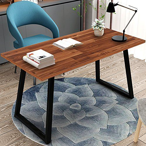 55 Rustic Solid Wood Computer Desk Vintage Industrial Home Office Study Table Wood Computer Desk Cheap Office Furniture Furniture