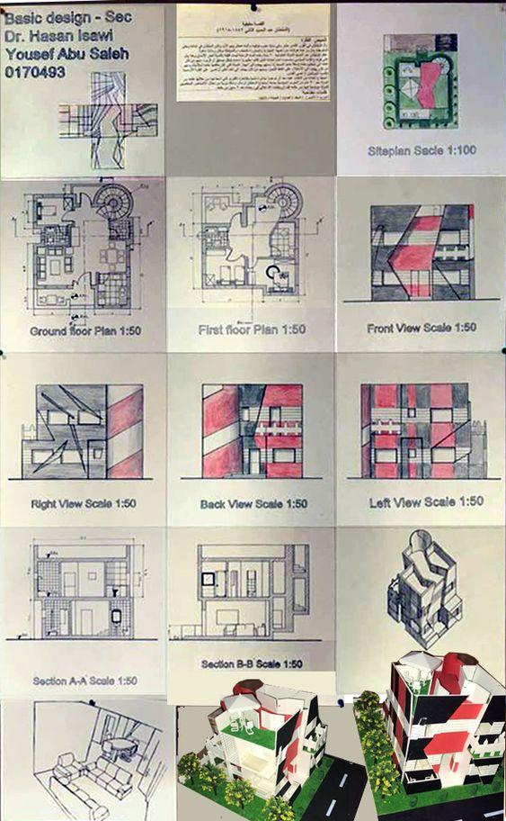 Yousef Abu SalehBasic design2/sec.4  اساسيات التصميم 2/ التسليم النهائي 2018- الاربعاء 25 ابريل